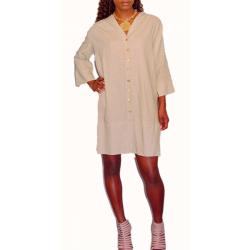 Placket Shirt Dress
