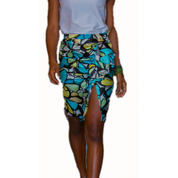 Flounced Pencil Skirt