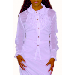 Vintage Cuffed Blouse